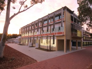 The CO2 Lab building at The University of Western Australia at dusk